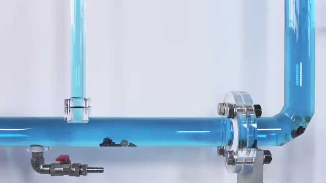 & Hydraulic model testing: Solids transport in waste water pipes - YouTube