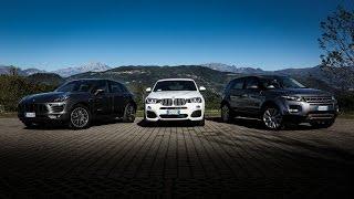 Abbiamo messo a confronto tre fra le Suv medie più chic oggi sul mercato: la Porsche Macan, la Range Rover Evoque e la BMW X4.