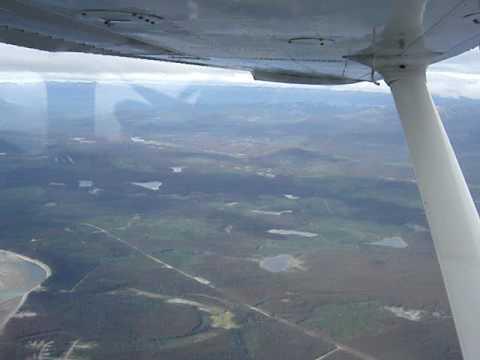 Aerial Tsay Keh Village Williston Lake BC Canada
