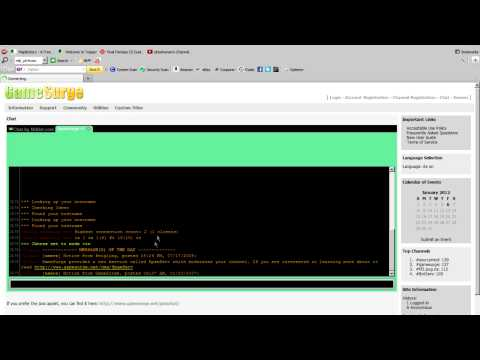 How To Use IRC Online!