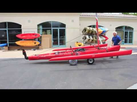 Hobie Tandem Island Custom Trailer Demonstration By