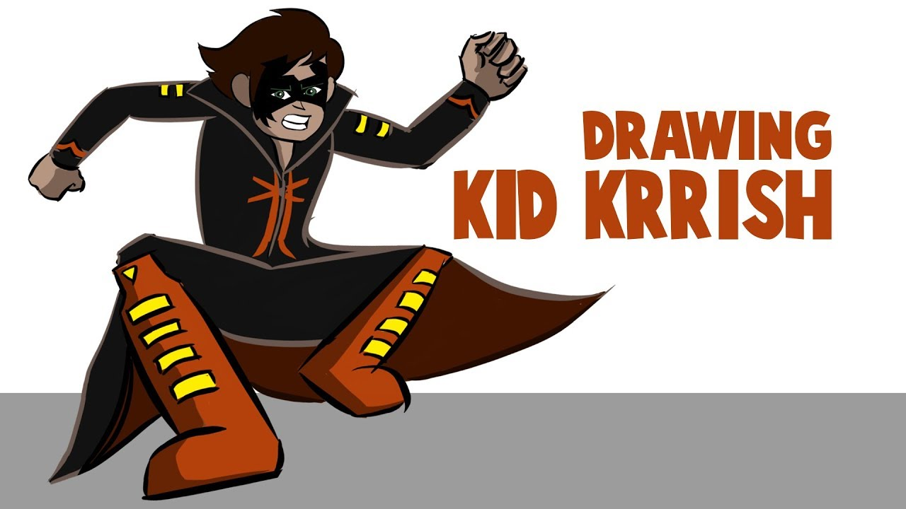 Drawing And Coloring Kid Krrish In Krita