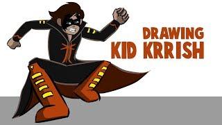 Drawing And Coloring Kid Krrish In Krita | How To Draw Kid Krrish |