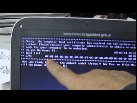 Netbook recibida del servico técnico no funciona
