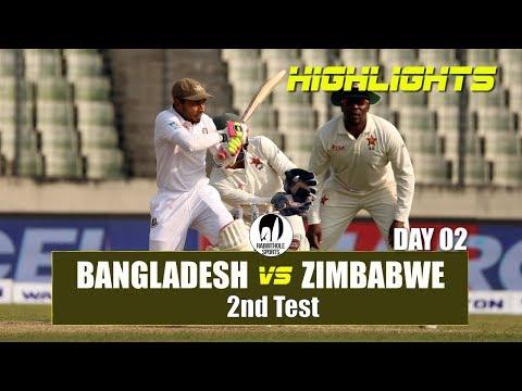 Bangladesh vs Zimbabwe Highlights || 2nd Test || Day 2 || Zimbabwe tour of Bangladesh 2018 thumbnail