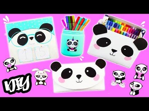 DIY KAWAII EASY PANDA CRAFTS!!! Back to school! Mery
