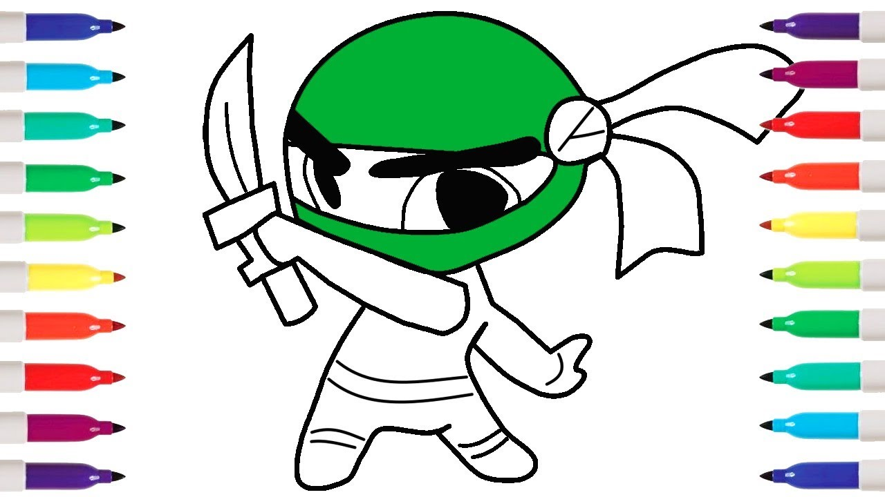 How To Draw Ninja Boy | Coloring Pages | Kid Drawing - YouTube