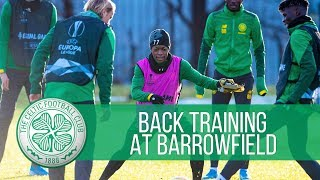 Celtic train at Barrowfield before final Europa League group game!