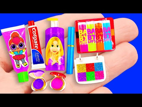 65 DIY Miniature MAKEUP Ideas for Barbie ~ MEGA MAKEUP COLLECTION
