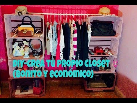 Diy crea tu propio closet bonito y econ mico youtube - Crea tu habitacion ...