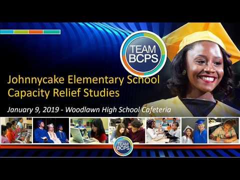 Johnnycake Elementary School Capacity Relief Studie 1-9-2019