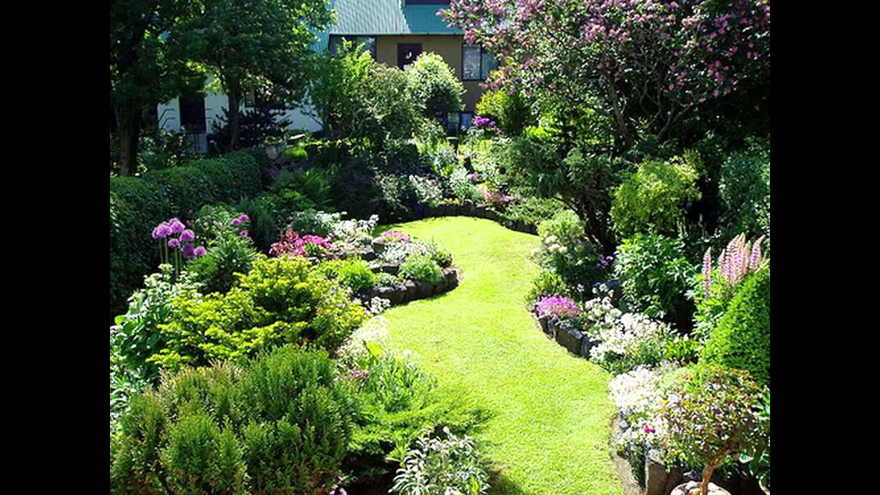 Small garden border ideas youtube for Landscape gardening for small gardens