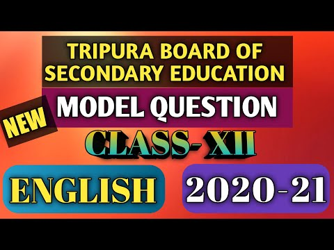 TBSE Model Question Class 12 English 2020-2021| English model Question class 12 Tripura Board