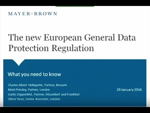 The New European General Data Protection Regulation