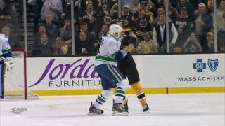 Repeat youtube video Canucks at Bruins - Line Brawl - 01.07.12 - HD