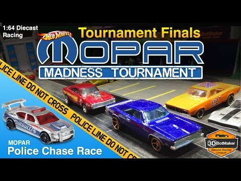 MOPAR Madness Finals | Police Chase Race | Hot Wheels Diecast Racing