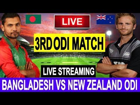 Live Score: New Zealand Vs Bangladesh 3rd ODI 2019 I  Live Streaming  I  BAN Vs NZ Live Match