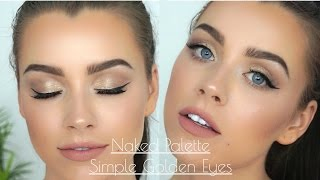 Simple Golden Eyes - UD Naked Palette | Maddie Edwards