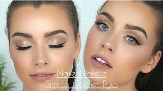 Simple Golden Eyes - UD Naked Palette   Maddie Edwards