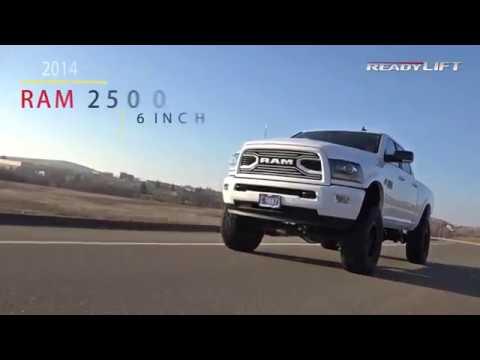 Ram 2500 Lift Kit >> 2014-2018 Ram 2500 4WD 6 Inch Lift Kit - ReadyLIFT - YouTube