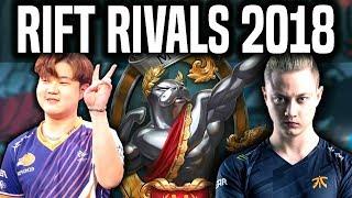 NA vs EU in URF! - Rift Rivals 2018 Day 1 - NA LCS vs EU LCS | LoL Rift Rivals 2018