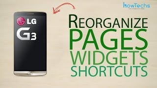 LG G3 - How to reorganize page, app and widget