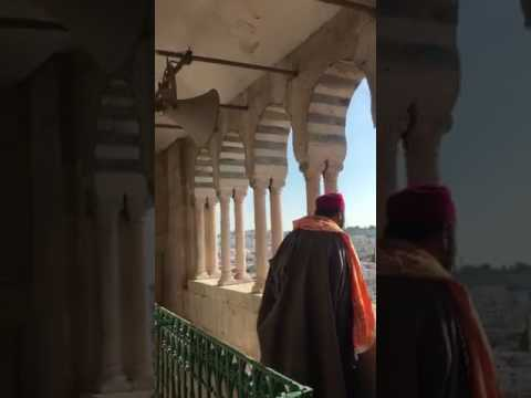 Full athan call to prayer from the minaret of al Zaytouna Mosque, Tunis, live, appel à la prière