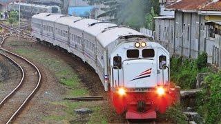 [Kompilasi] Keberangkatan Kereta Api Dari Stasiun: KA Gajahwong Dobel Traksi