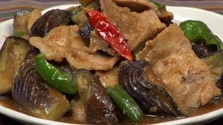 Miso Pork Stir-Fry with Eggplants and Bell Peppers Recipe  Cooking with Dog