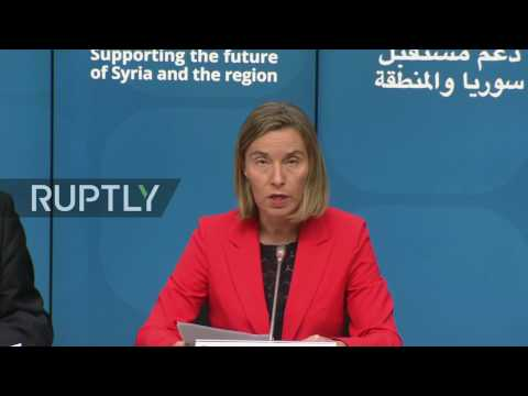 LIVE: 'Future of Syria' conference chairs speak to press