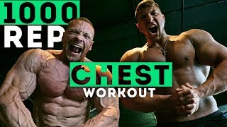 1,000 Rep Chest Challenge - The Sickest Pump Ever! | Joe Wachs vs Marc Lobliner