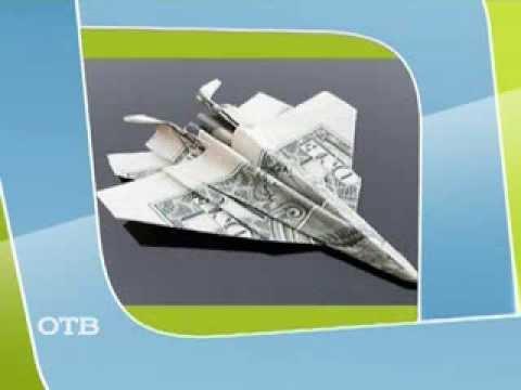 видео: Сворачиваем оригами из бумажных денег! (10.09.13)