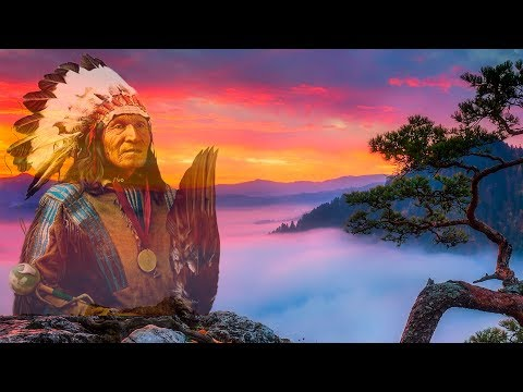 Native American Music - Tribal Drums & Flute -Music For Deep Meditation.
