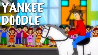 Yankee Doodle Went To Town | Nursery Rhyme With Lyrics | Classic English Rhymes For Kids