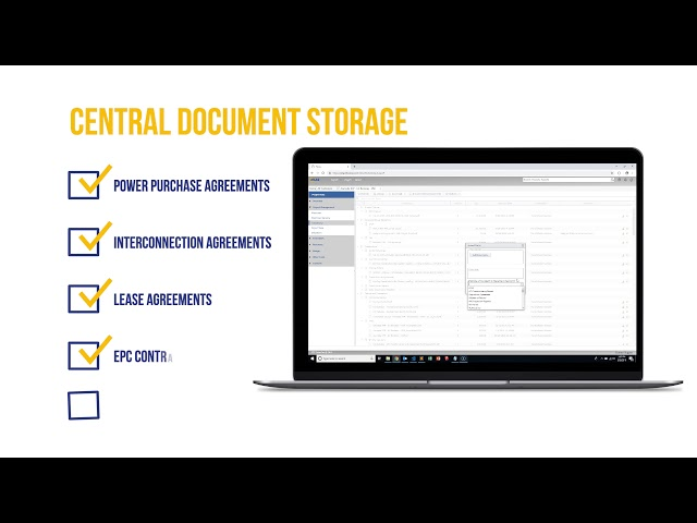 Atlas Solar Portfolio Management Software: Document Sharing