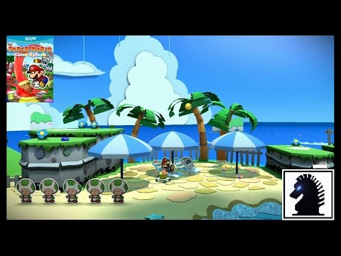 Wii U Paper Mario Color Splash - #5: Bloo Bay Beach
