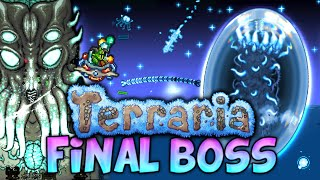 KILLING THE FINAL BOSS AND THE AWESOME LUNAR EVENT (Terraria 1.3 - Final boss walkthrough/strategy)