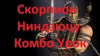 Mortal Kombat X - Скорпион Ниндзюцу Комбо Урок