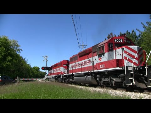 Wisconsin & Southern Freight Train - County Road D