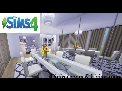 The sims 4 salon jadalnia bez dodatk w i modyfikacji for Salon moderne sims 4