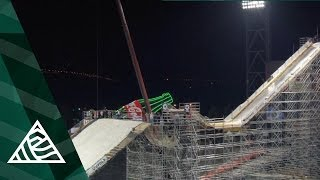 Massive Ski and Snowboard Booter in Giants Stadium, AT&T Park