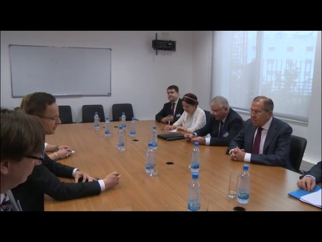С.Лавров и П.Сиярто   Sergey Lavrov and Peter Szijjarto