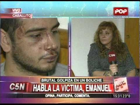 C5N - POLICIALES: BRUTAL GOLPIZA EN UN BOLICHE DE CABALLITO