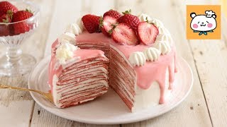 いちごのミルクレープの作り方 Strawberry crepe cake|HidaMari Cooking thumbnail