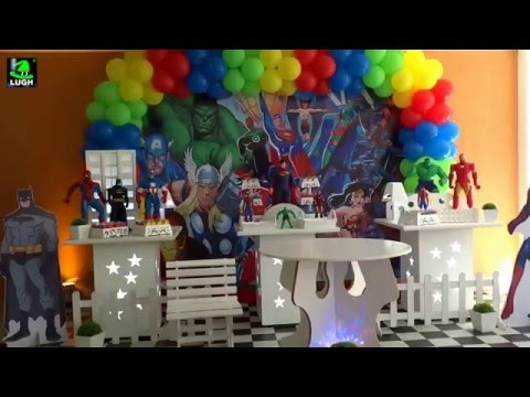Super heris decorao provenal simples para festa infantil de super heris decorao provenal simples para festa infantil de meninos youtube thecheapjerseys Image collections