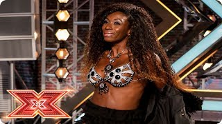 Elisangela's shapely moves get Simon's attention | Auditions Week 1 | The X Factor 2017