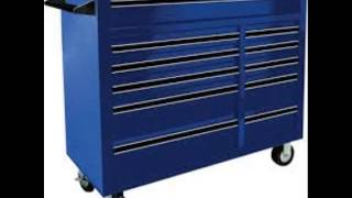 Montezuma 72in 10 Drawer Tool Cart With Bulk Storage Area Model El7210tc