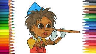 ピノッキオの冒険 の書き方 塗り