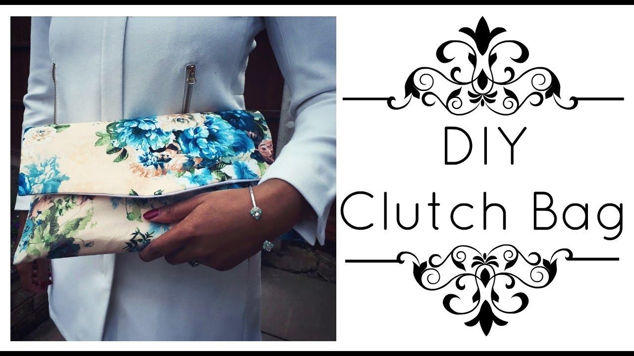 DIY Clutch Bag - YouTube