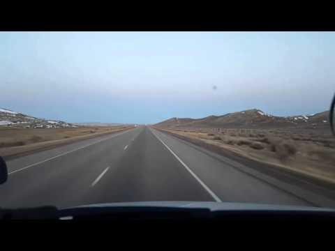 BigRigTravels LIVE VIDEOS -Elk Mountain to Sinclair, Wyoming Sat Feb 27 06:20:57 MST 2016